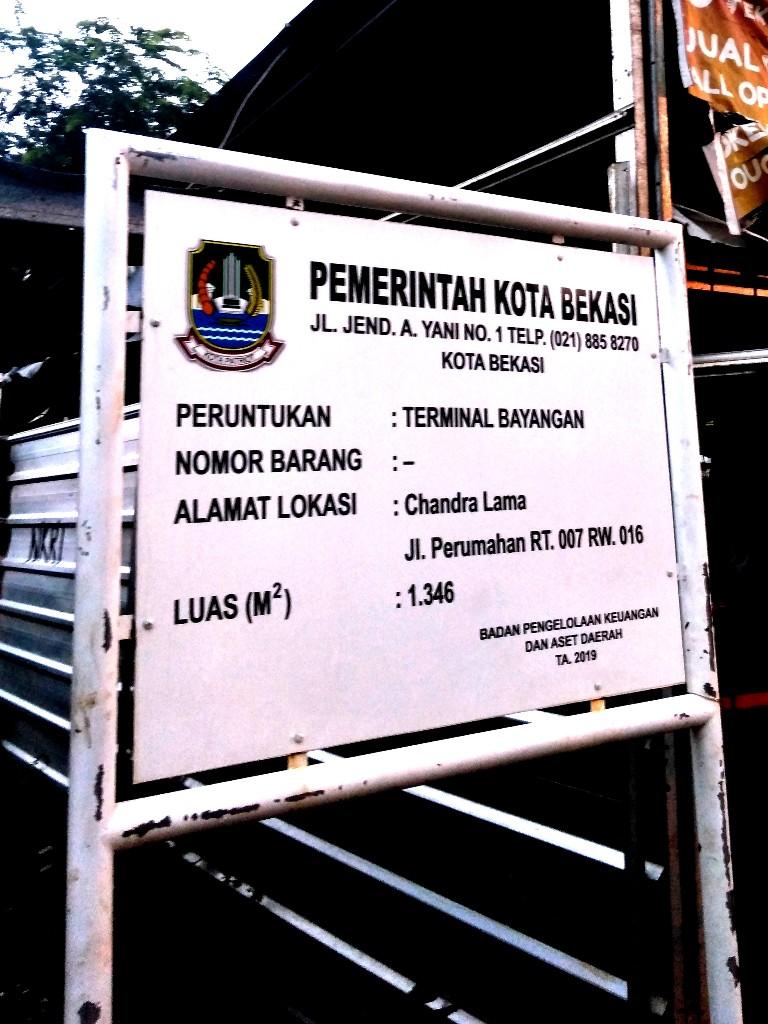 Terminal angkot KWK 10 CH di Chandra Indah, Jatirahayu, Pondokmelati, Bekasi
