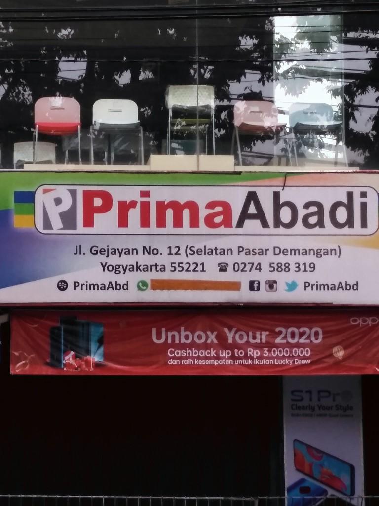 Toko prima abadi sebelah selatan pasar Demangan Yogyakarta