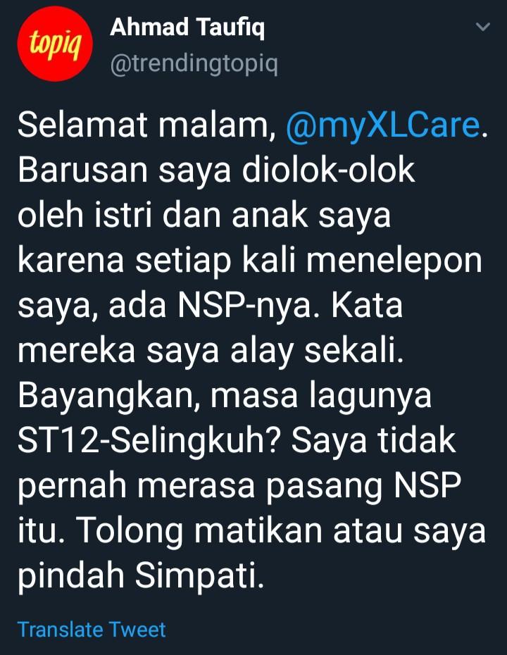 NSP XL lagu selingkuh bikin kesal