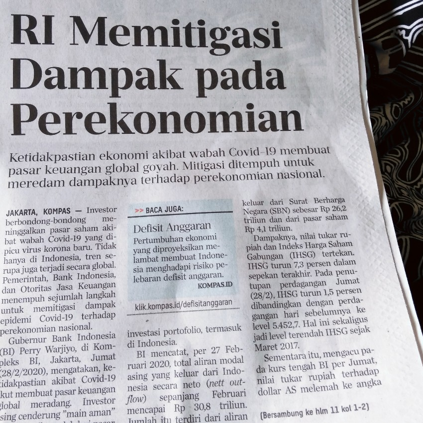 Judul berita koran harian Kompas