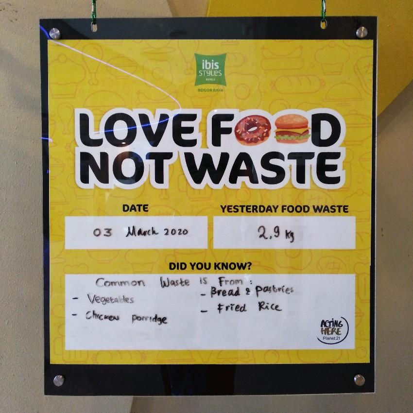 Program mengurangi makanan terbuang di Ibis Style Bogor