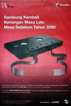 Idiom kaset dalam iklan Telkomsel