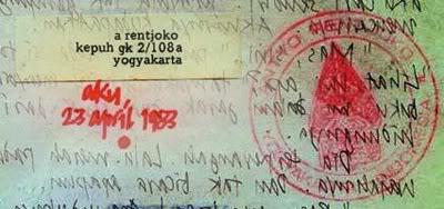 Stempel gunungan wayang bikinan kaki lima Malioboro Yogyakarta