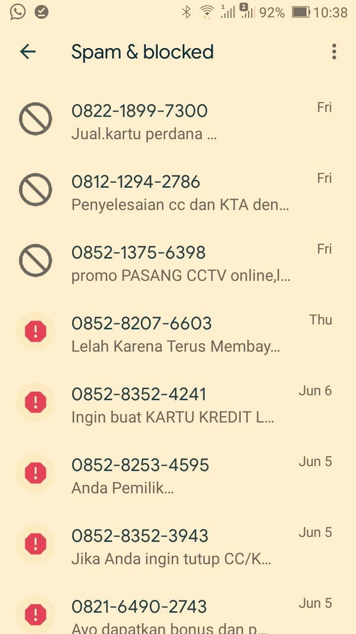 SMS sampah yang sulit diberantas