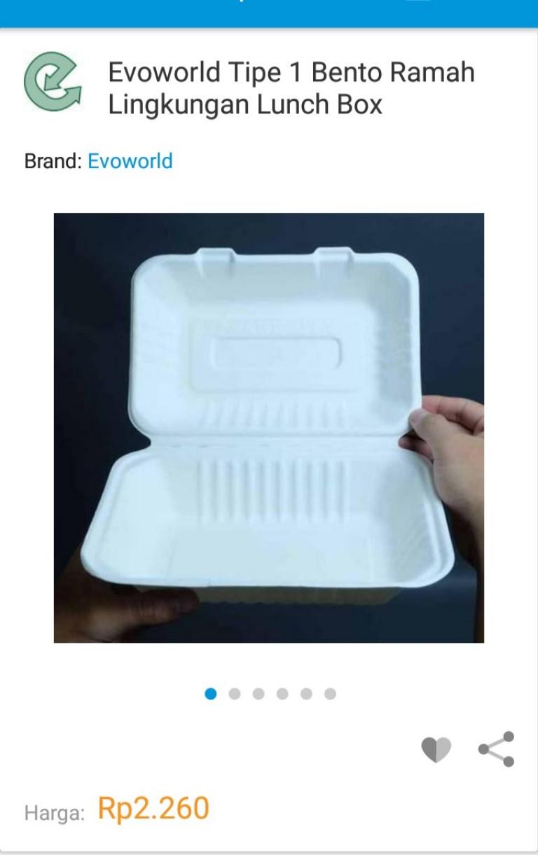 Lunch box mirip Styrofoam tapi berbahan tebu