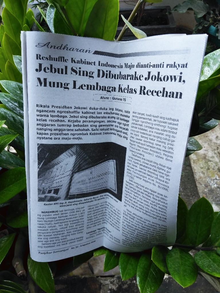 Jokowi hanya membubarkan lembaga recehan