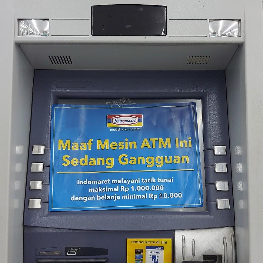 Maaf, ATM sedang kesehatan