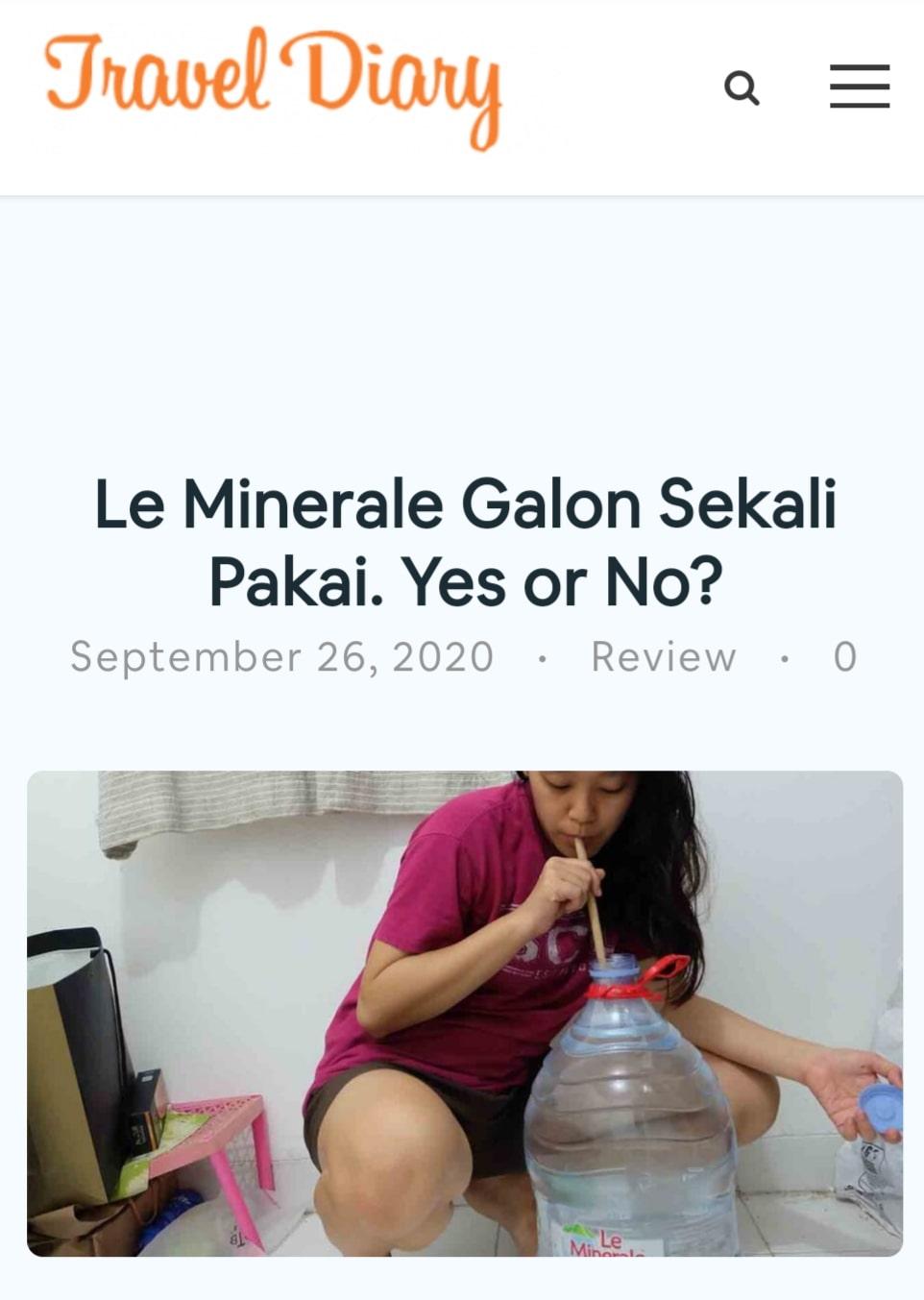 Kontroversi galon sekali pakai Le Minerale