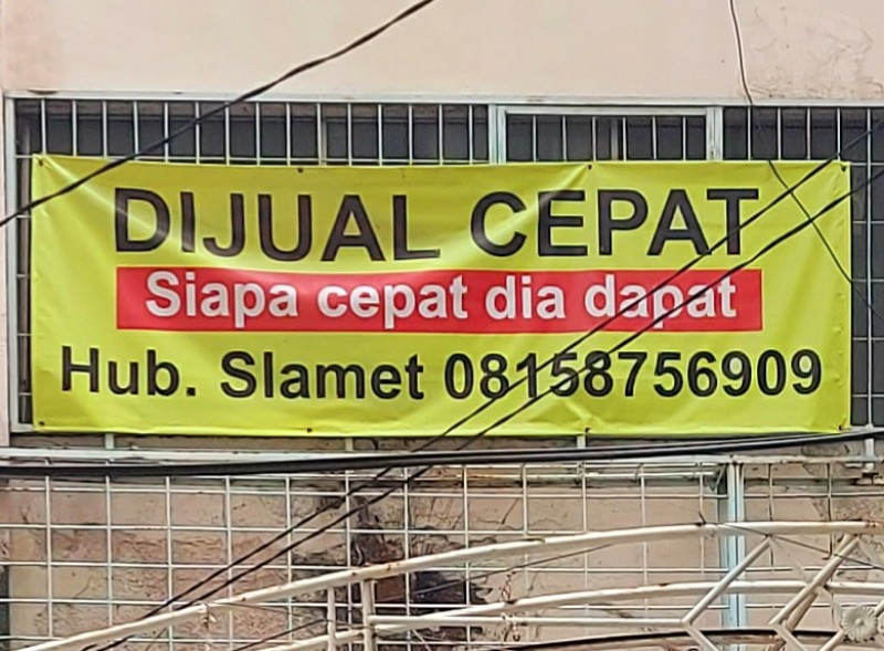 Menjual cepat ruko di Gunung Sahari XI Jakarta Pusat