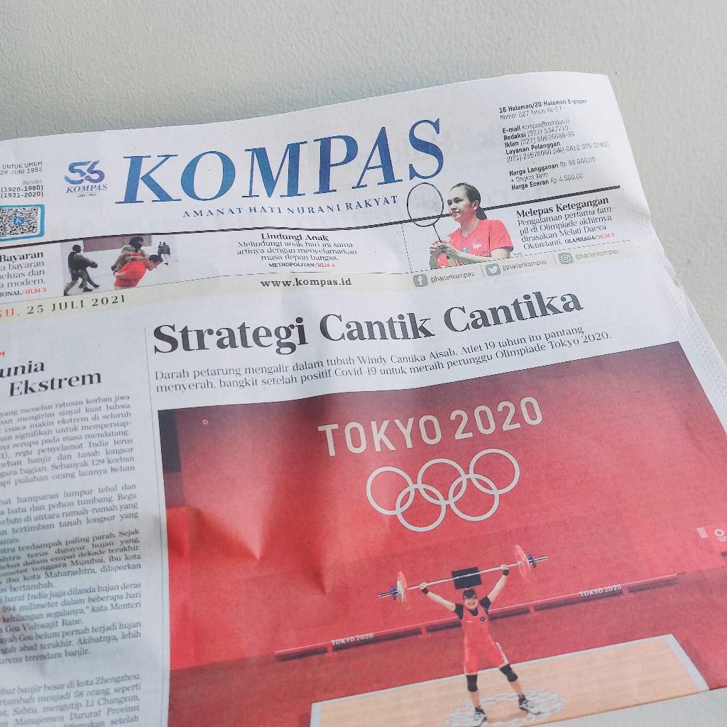 Gaya judul media untuk lifter Windy Cantika Aisah