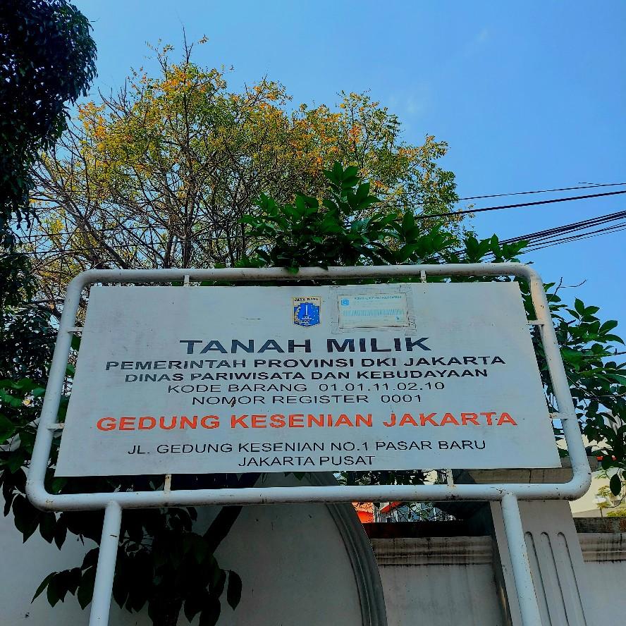 Gedung Kesenian Jakarta selama pandemi 2021