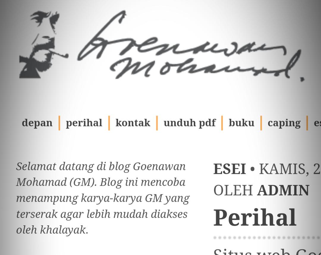 Situs Goenawan Mohamad