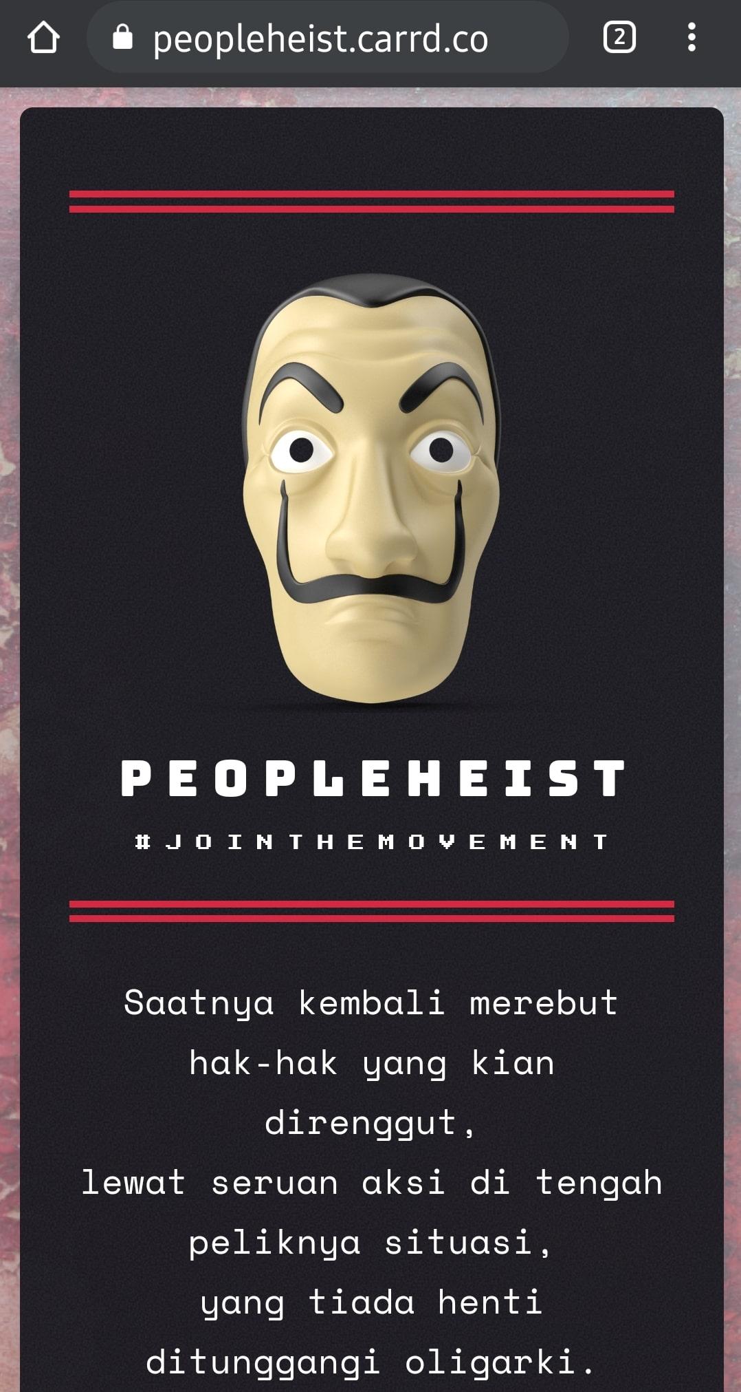 Situs People Heist versi Indonesia